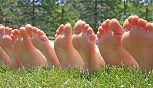 Row Of Feet